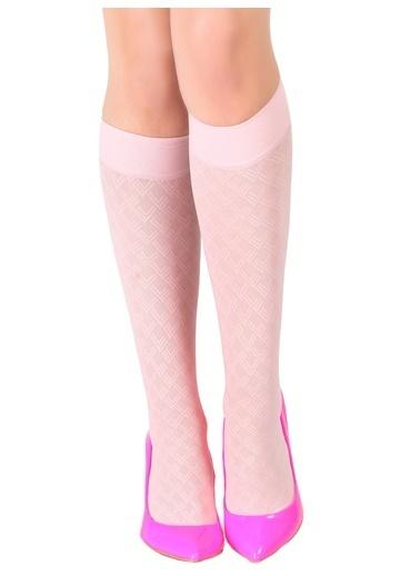 Pierre Cardin 4'Lü Desenli Dizaltı Çorap Pembe